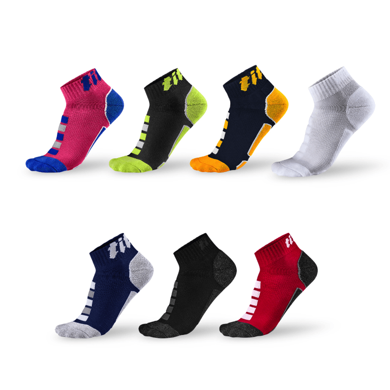 功能慢跑襪 2s (3雙)_送titan立體洗衣袋 紅/竹炭 L (26-29cm)
