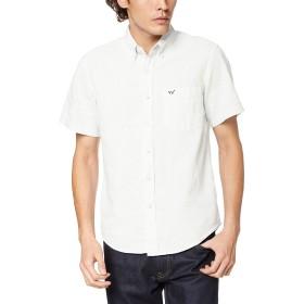 [エドウィン] ボタンダウンシャツ 軽くて涼しい綿麻素材の半袖ボタンダウンシャツ メンズ ET2086-3 ホワイト 日本 S (日本サイズS相当)
