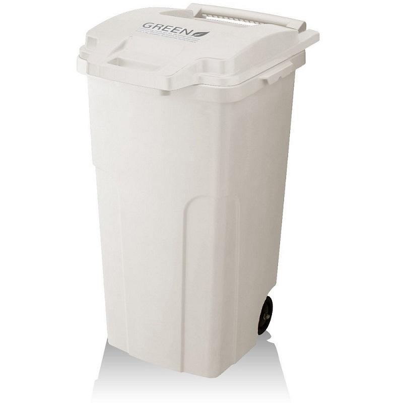機能型戶外垃圾桶 90L - 二色 棕色
