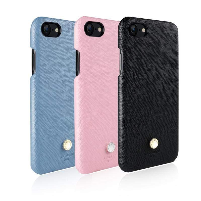 iPhone 8 Saffiano 設計師款背蓋皮套 黑