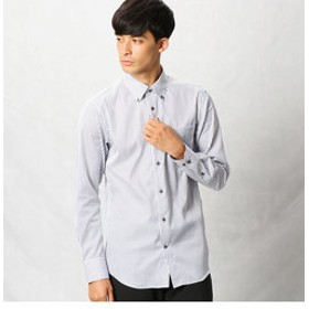 【COMME CA MEN:トップス】形態安定ロンドンストライプシャツ