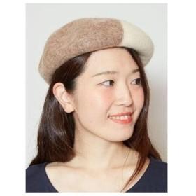 【チャイハネ】バイカラーベレー帽 ホワイト