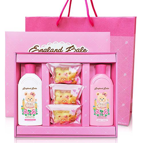 英國貝爾 抗菌沐浴禮盒 倫敦玫瑰沐浴禮盒 喝茶禮盒 結婚用品 婚禮用品【皇家結婚用品百貨】