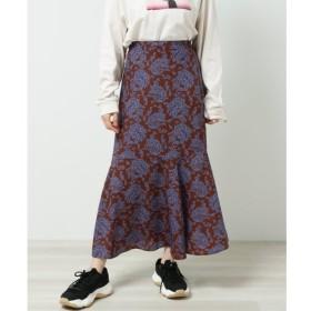 【レイカズン/RAY CASSIN】 フラワー切替フレアスカート