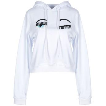 《セール開催中》CHIARA FERRAGNI レディース スウェットシャツ ホワイト XS コットン 100%