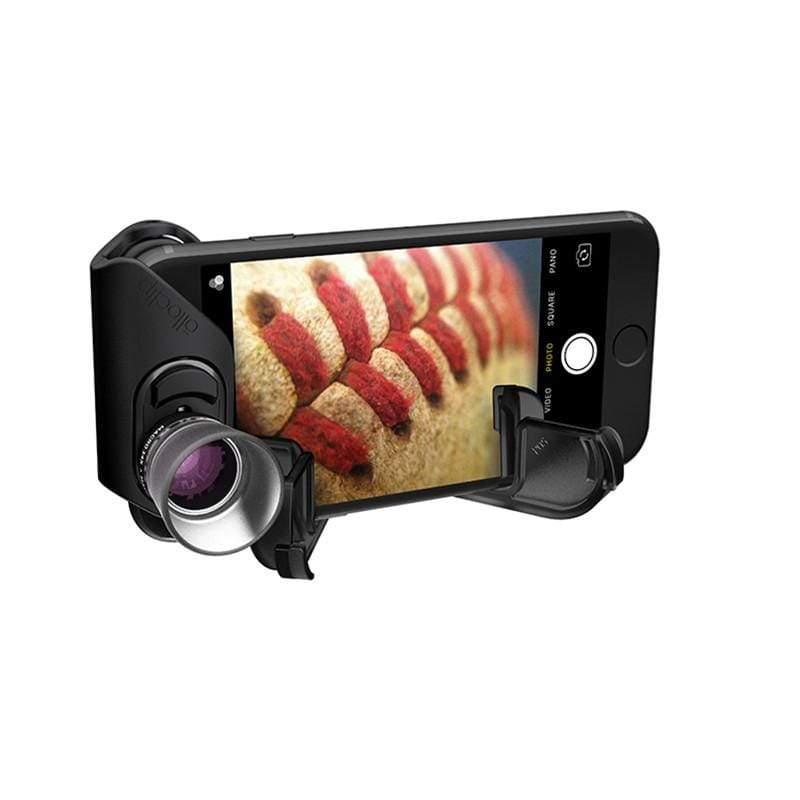 微距手機鏡頭-7倍14倍21倍Macro Pro Lens for iPhone 7/7 Plus黑色鏡頭+黑掛環
