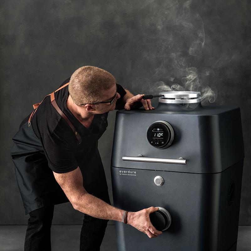 4K 全功能炭火烤箱 焰陽橙