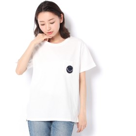 Daily russet(デイリーラシット)/スマイルサガラ刺繍Tシャツ