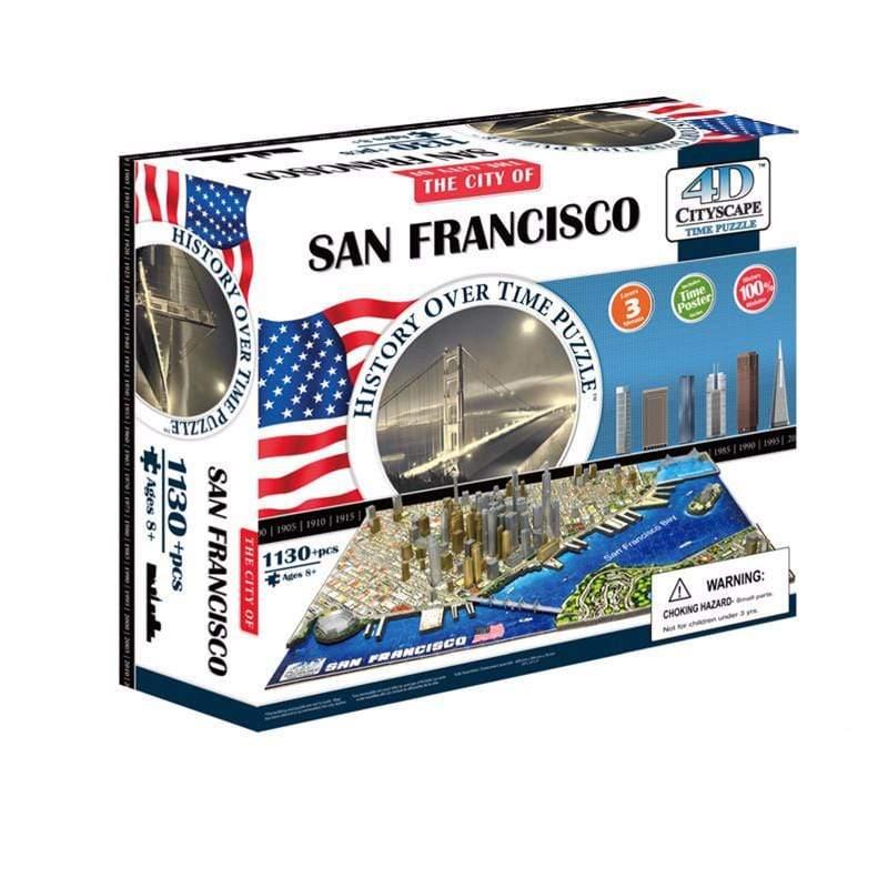 4D 立體城市拼圖 - 舊金山
