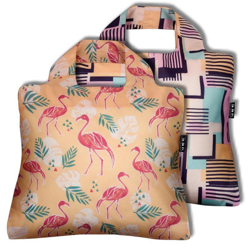 摺疊購物袋 2入組 棕櫚泉系列─ 白日夢 & 櫻桃