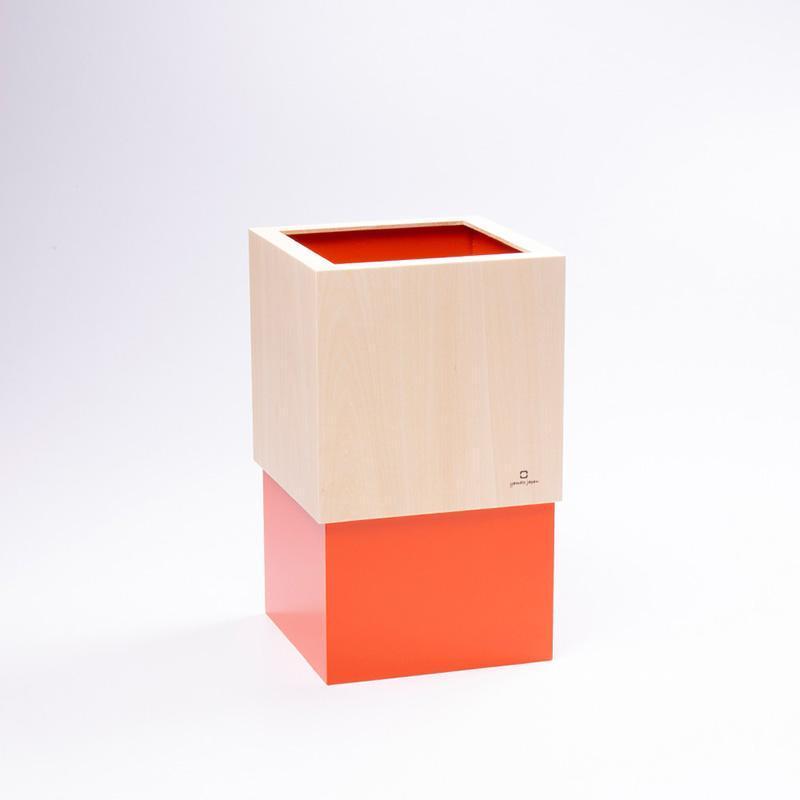 手作積木垃圾桶 - 熱帶橙