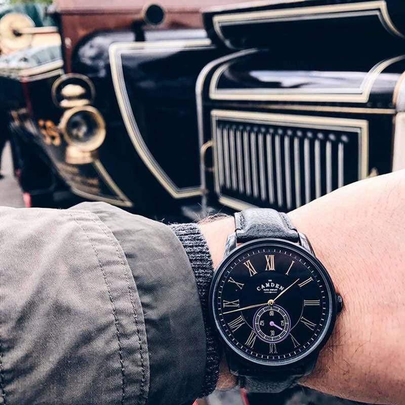 Camden Watch NO29系列 純英國血統 單眼秒針黑潮年度限量真皮腕錶