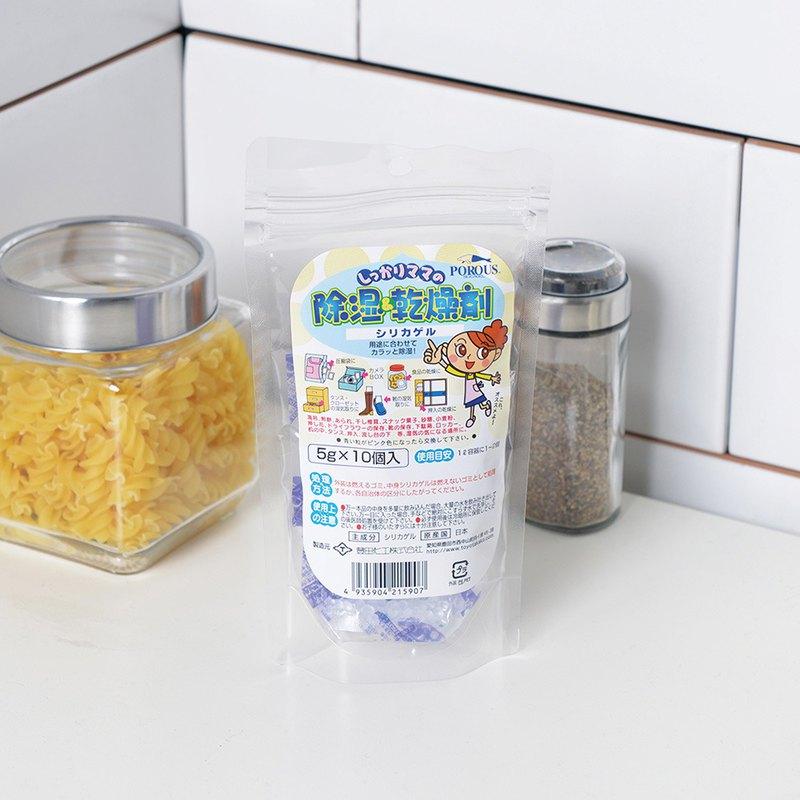 日本製萬用矽膠除溼防潮乾燥劑5g-10入