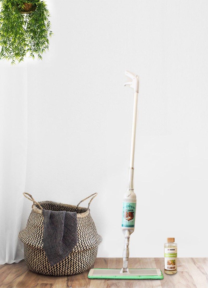 超省時噴霧拖把清潔組!輕鬆保養與清潔 (木地板專用護木精油+噴霧拖把)