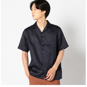 【SHIPS:トップス】SC: ファイン ラミー オープンカラーシャツ