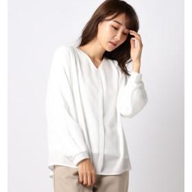 【ミューズ リファインド クローズ/MEW'S REFINED CLOTHES】 Vネックショルダータックカバーリングブラウス