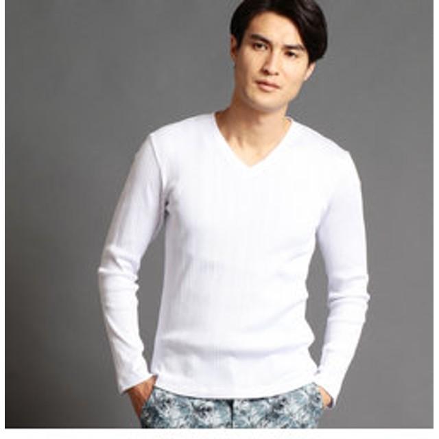 【NICOLE:トップス】VネックテレコTシャツ