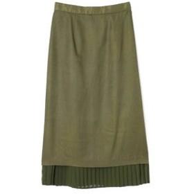 【ROSEBUD:スカート】裾プリーツスカート