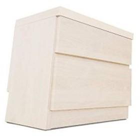頑丈薄型チェスト/収納棚【2段 幅45cm ホワイト木目調】 奥行30cm 日本製 『ウスピッタ』【完成品】