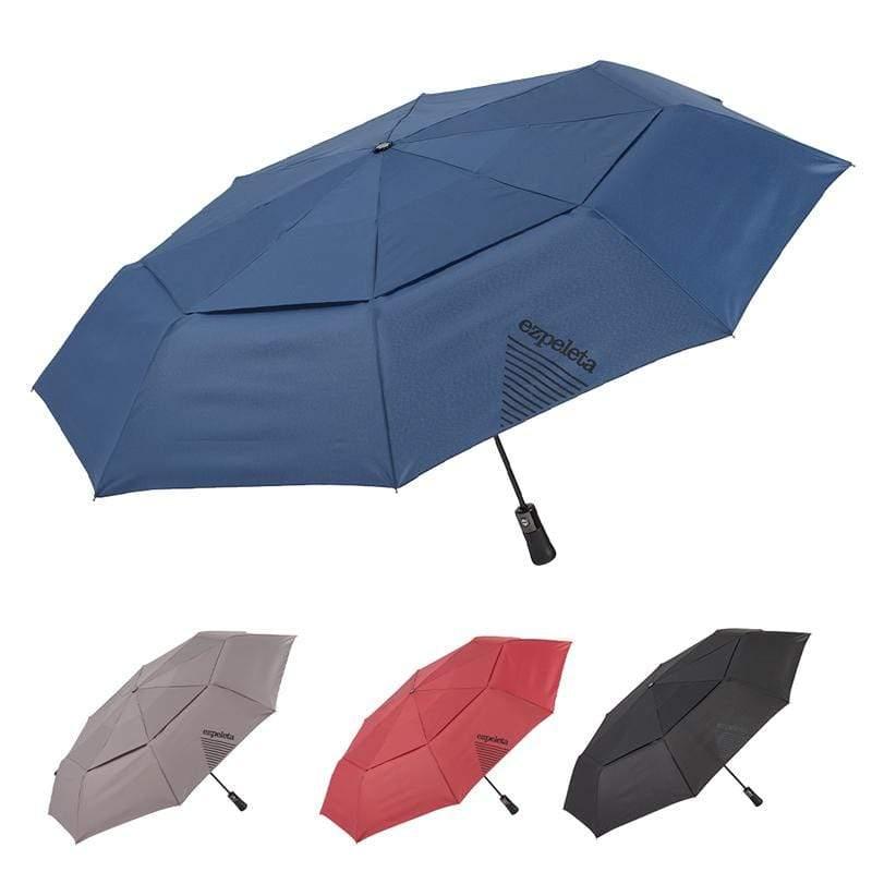 10013「紳士的風度」雙人大傘面自動折傘 子爵紅