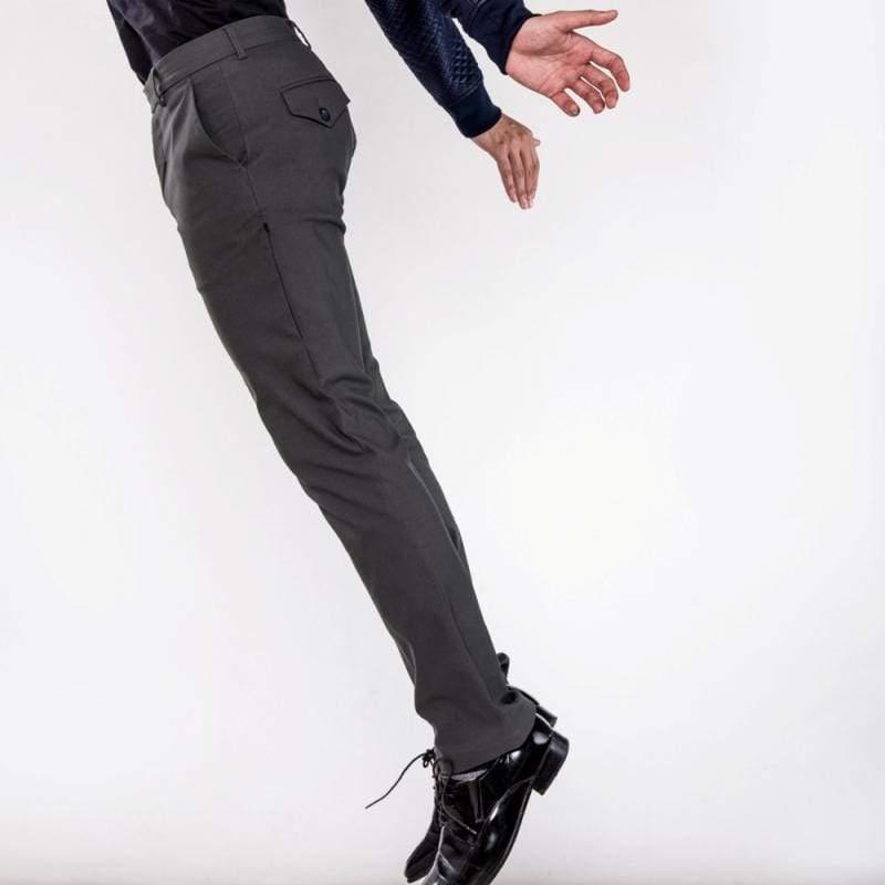 曼哈頓八口袋商旅紳士褲 兩件組 深邃灰 + 莫蘭迪卡其 尺碼 36