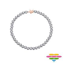 彩糖鑽工坊 925純銀鍍玫瑰金 星星手鍊 Doris系列