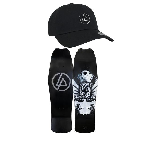 Linkin Park 聯合公園 A THOUSAND SUNS 經典Logo後扣棒球帽滑板版身組合包 HACKEN07