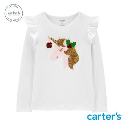 【Carter s】 聖誕獨角獸亮片長袖上衣 (台灣總代理)