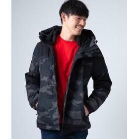 【improves:アウター】撥水ストレッチ中綿フードジャケット