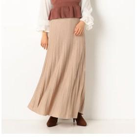 【archives:スカート】A-ラメ入りタック編みニットスカート