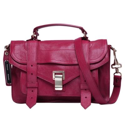 Proenza Schouler PS1 TINY LUX山羊皮手提/斜背包(小-莓紅)