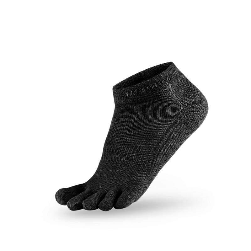 五趾生活運動踝襪-黑-3雙 L
