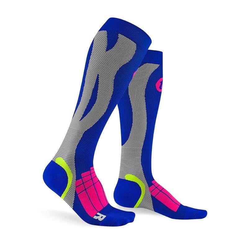 壓力運動襪 Elite-寶藍/淺灰_送titan立體洗衣袋 XL