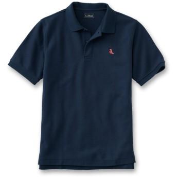 エンブロイダー・ダブル・エル・ポロシャツ、半袖 赤の刺繍入り/Japan Fit Embroidered Double L Polo Shirt, Short-Sleeve