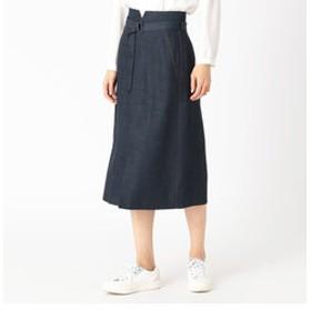 【COMME CA:スカート】テンセルトリアセデニムセミタイトスカート