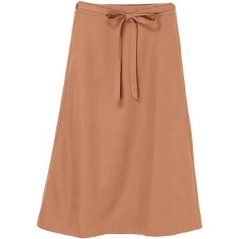 【6,000円(税込)以上のお買物で全国送料無料。】起毛台形スカート