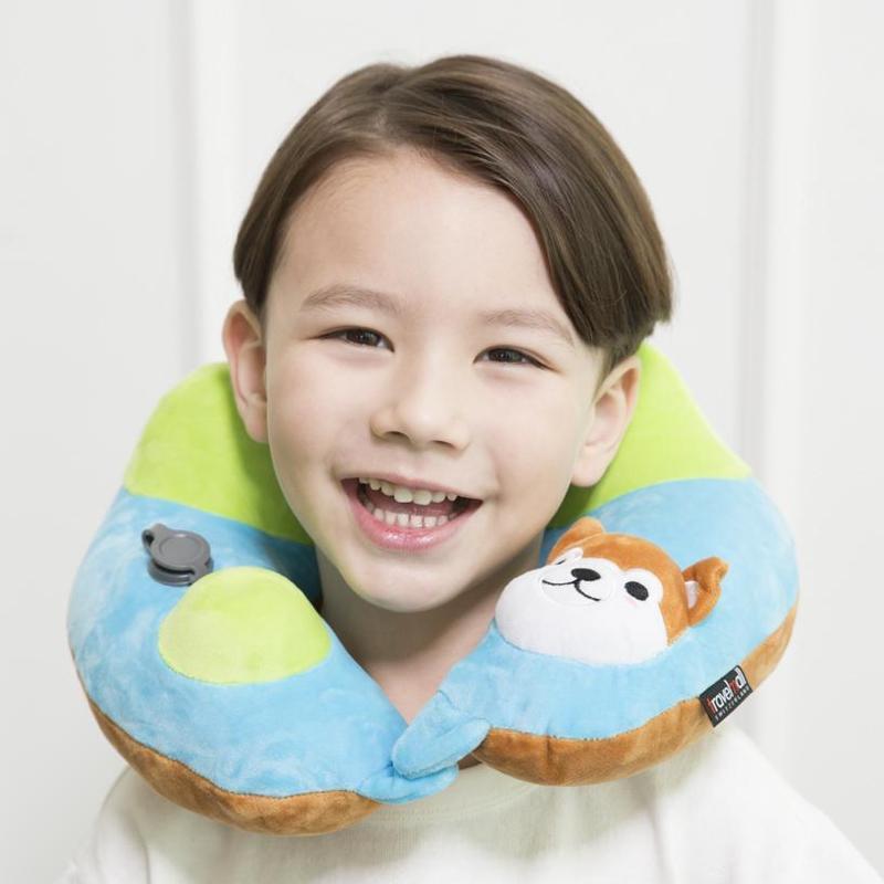 3D 兒童手動旅行充氣枕 兔仔款