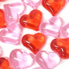 宝石すくい 縁日お祭り クラッシュアイス リトルハート レッド&ライトピンク 1kg(310pcs) 506-951