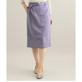 【ViS:スカート】【MACHINE WASHABLE】 エコスエードタイトスカート