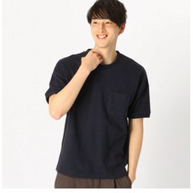 【COMME CA ISM:トップス】ポケット付 半袖 Tシャツ