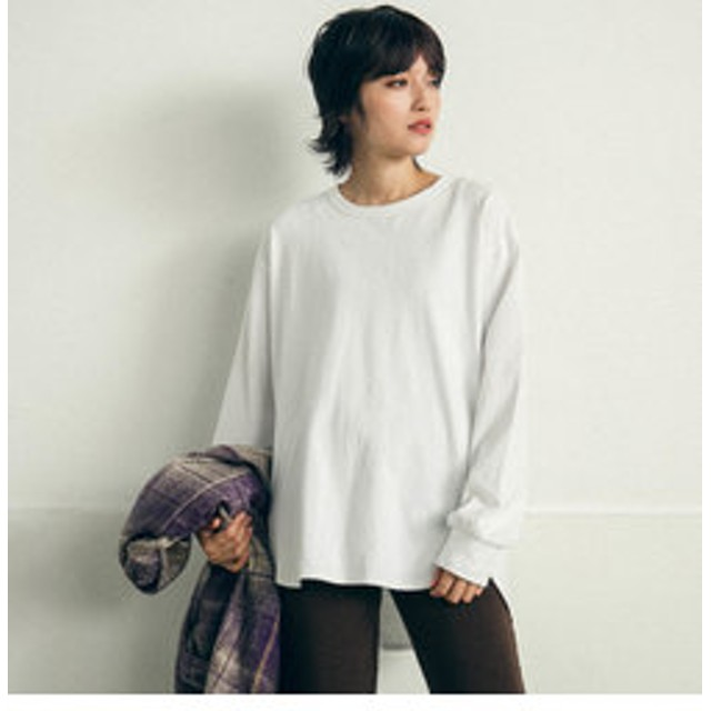 【J Lounge:トップス】クウボウ天竺ロングTシャツ