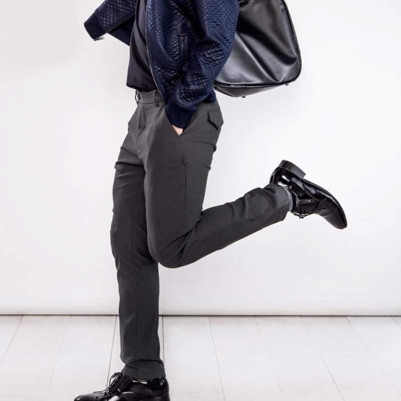 曼哈頓八口袋商旅紳士褲 兩件組 深邃灰 + 瑪雅藍 尺碼 34