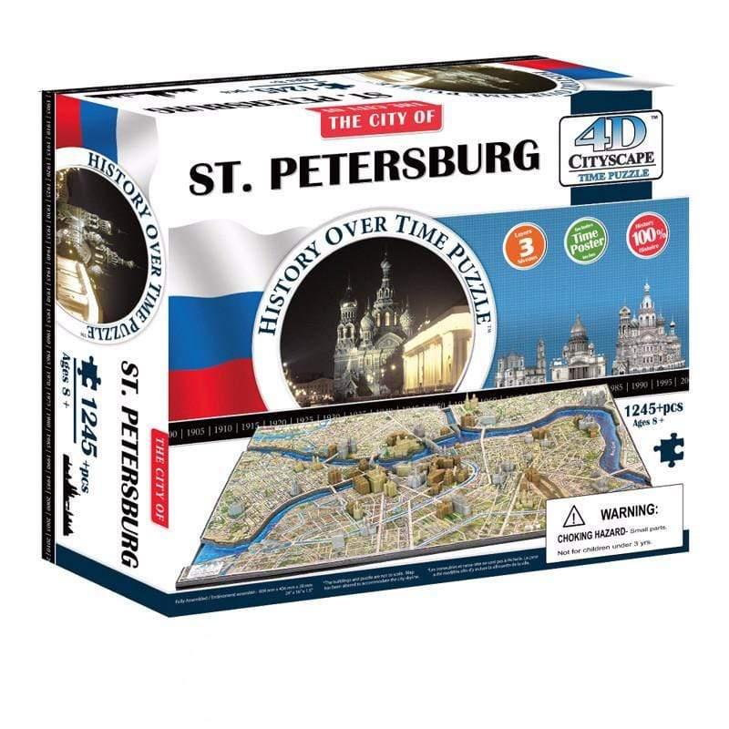 4D 立體城市拼圖 - 聖彼得堡