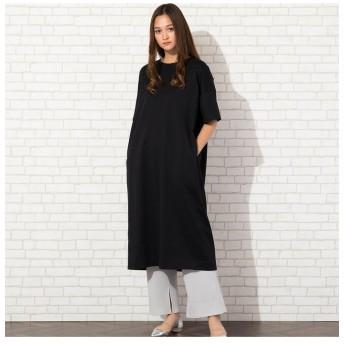ピサーノ オーガニックTシャツワンピース レディース ブラック LL 【PISANO】