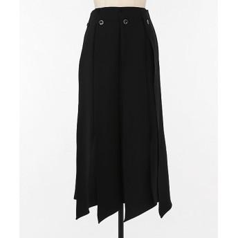 <AKIRA NAKA/アキラ ナカ> Ai slit panel skirt BK BLACK【三越・伊勢丹/公式】