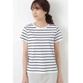【HUMAN WOMAN:トップス】新きょう綿半袖Tシャツ