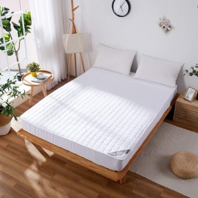 POKAPOKA 敷きパッド シングル ベッドパッド 家庭用保護パッド 滑り止め 極細綿100% 匂いなし 肌触りよい 寝汗吸収 オールシーズン 洗える 速乾 抗菌 丸洗いOK
