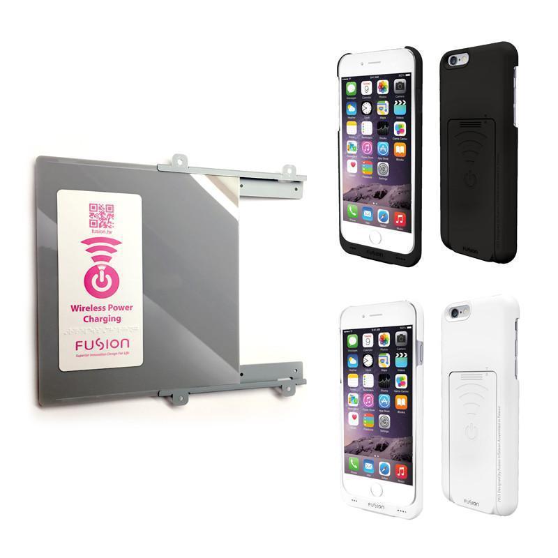 """【限時加碼贈】DIY桌面無線充電組 (加送原廠充電保護殼) b.iPhone 6/6s(4.7"""") - 黑色 / c.iPhone 6/6s Plus(5.5"""") - 白色"""