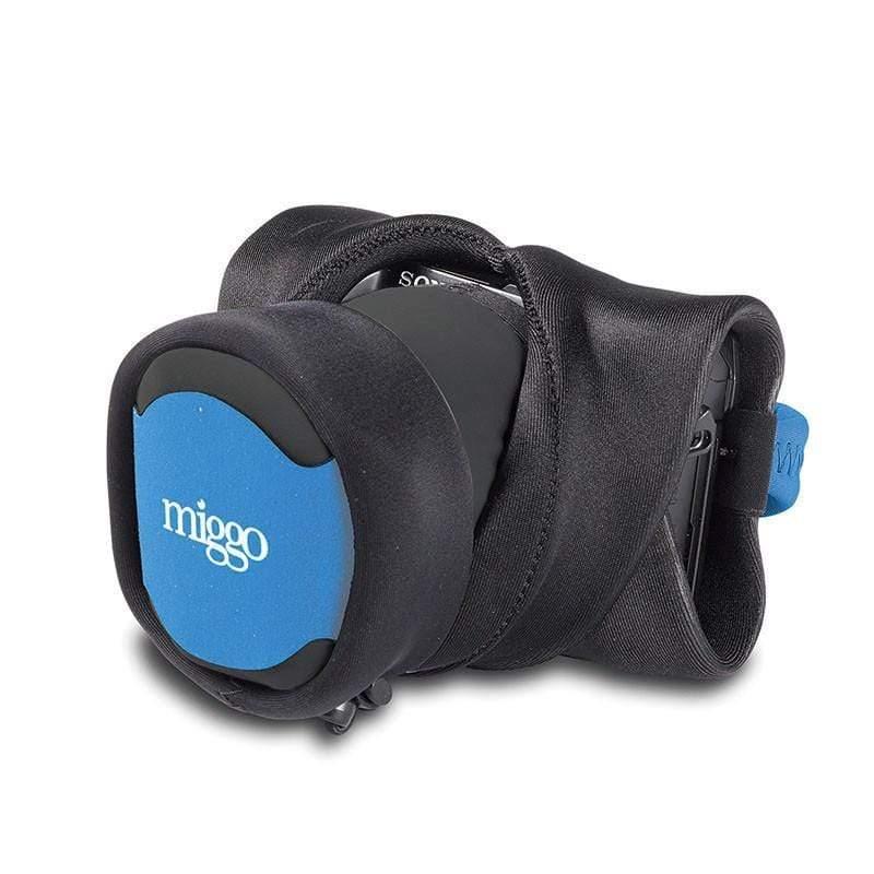 二合一手腕帶與包布(微單相機專用) - 黑與藍