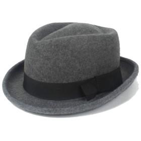 SGJFZD メンズのFedoraハットレトロ弓フェルトウールソンブレロファッション帽子秋の帽子パナマハットジャズナイトキャップ (色 : グレー, サイズ : 56-58CM)